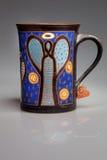 Painted mug Royalty Free Stock Photo