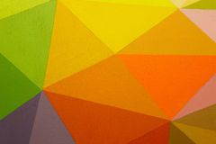 Painted multicolored background with geometric lines Royalty Free Stock Image