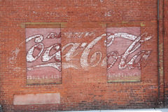 Free Painted Mural Advertising On Red Brick Wall, Keene, New Hampshir Royalty Free Stock Photos - 59464068