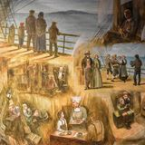 Norwegian Immigrants Coming to America Painting Royalty Free Stock Photo