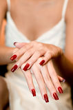 Painted Nails Stock Image