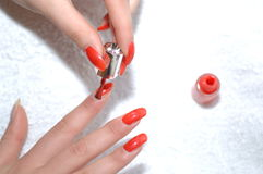 Painted Nails Royalty Free Stock Photos