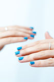 Painted nails Stock Images