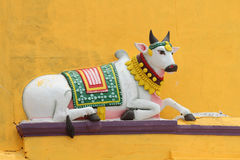 Painted Nandi sculpture Royalty Free Stock Image