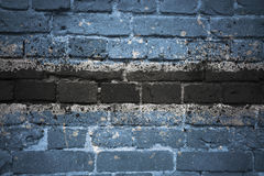 Painted national flag of botswana on a brick wall Royalty Free Stock Photography