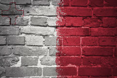 Painted national flag of malta on a brick wall. Colorful painted national flag of malta on a old brick wall Stock Photos