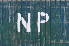 Painted no parking sign Stock Photography