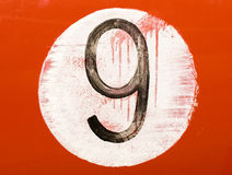 Painted number on an old car Stock Images