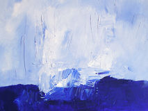 Painted Ocean Scene / Abstract Texture in Blue Royalty Free Stock Photo
