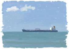 Painted with oil tanker Royalty Free Stock Photos
