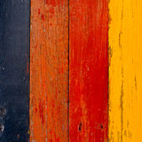 Painted old wooden wall Royalty Free Stock Photos