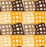 Painted orange and brown checkered marker squares Royalty Free Stock Image