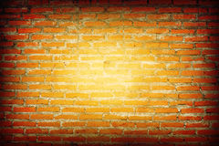 Painted orange wall Stock Image