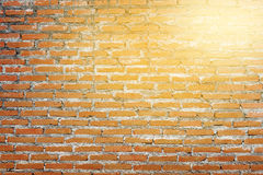 Painted orange wall Stock Photography