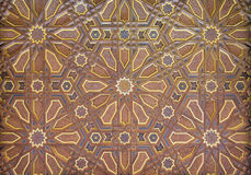 Painted Ornate Moorish Ceiling Stock Image
