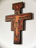Painted orthodox crucifix Royalty Free Stock Images