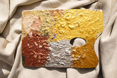 Painted palette Stock Image