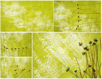 Painted paper background collage royalty free stock photography