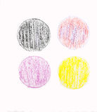 Painted on paper crayon Royalty Free Stock Photos