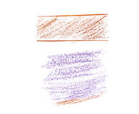 Painted on paper crayon Stock Photography
