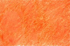Painted on paper crayon orange Stock Photo