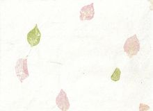 Painted Pastel Leaf Paper Stock Images