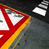 Painted pavement Stock Photo