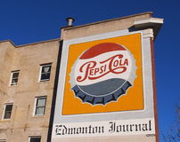 Painted Pepsi Cola Advertisement On Building Royalty Free Stock Photos