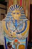 Painted pharaoh case Stock Image