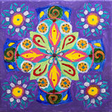 Painted picture on a canvas with vibrant colours Royalty Free Stock Photo
