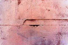 Painted pink, brown wall Royalty Free Stock Image