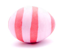 Painted pink easter egg isolated Royalty Free Stock Photo