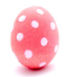 Painted pink easter egg isolated Stock Photo
