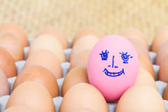 Painted pink preserved egg Royalty Free Stock Image