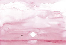 Painted pink sunset Royalty Free Stock Photography
