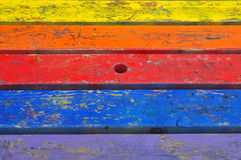 Painted planks wood background Stock Images