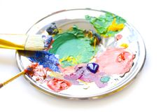 Painted plate Royalty Free Stock Photography