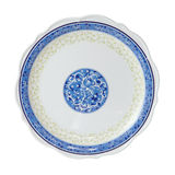 Painted plate isolated Royalty Free Stock Images