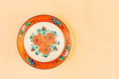 Painted plate Royalty Free Stock Images