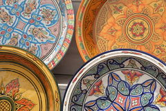 Painted plates Stock Photography