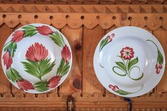 Painted on plates Stock Photo