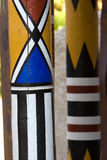 Painted poles Royalty Free Stock Image