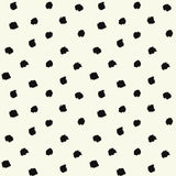 Painted Polka Dot. Vector Brush Strokes Painted Polka Dot Seamless Pattern. Chaotic hand drawn artistic background.Abstract art for fabric imprint. Grunge black Stock Photo
