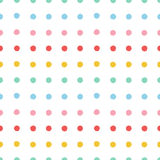 Painted polka dots seamless pattern Stock Photo