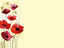 Painted poppies background Stock Images