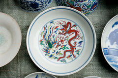 Painted porcelain crafts Royalty Free Stock Photography