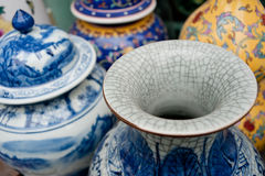 Painted porcelain crafts Stock Photography