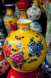 Painted porcelain crafts Royalty Free Stock Images
