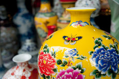 Painted porcelain crafts Royalty Free Stock Photos