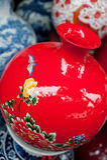 Painted porcelain crafts Stock Photos
